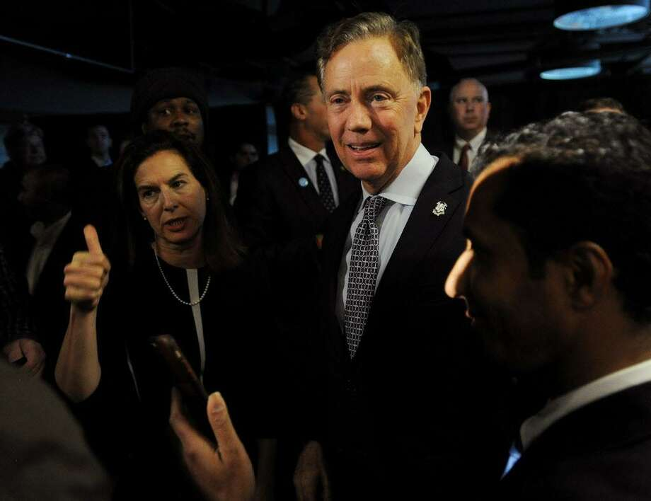 Gov.-elect Ned Lamont and Lt. Gov.-elect Susan Bysiewicz greet supporters at Dunkin' Donuts Park in Hartford after this year's election.| File photo Photo: Hearst Connecticut Media File Photo / Connecticut Post