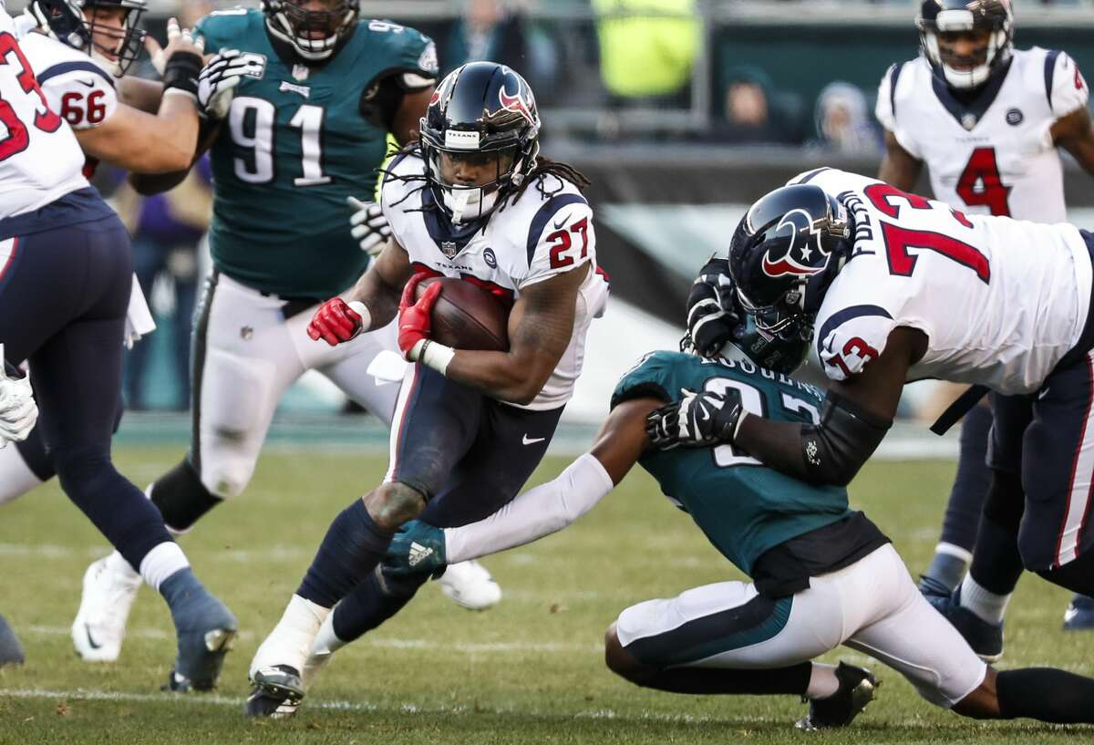 PHOTOS: Memes that summarize seasons for Texans, Cowboys fans Houston Texans running back D'Onta Foreman (27) is tripped up by Philadelphia Eagles defensive back Tre Sullivan (37) as he runs up the middle during the third quarter of an NFL football game at Lincoln Financial Field on Sunday, Dec. 23, 2018, in Philadelphia. >>>Here's arecap of the 2018-19 seasons for the Houston Texans and Dallas Cowboys with nothing but memes ...