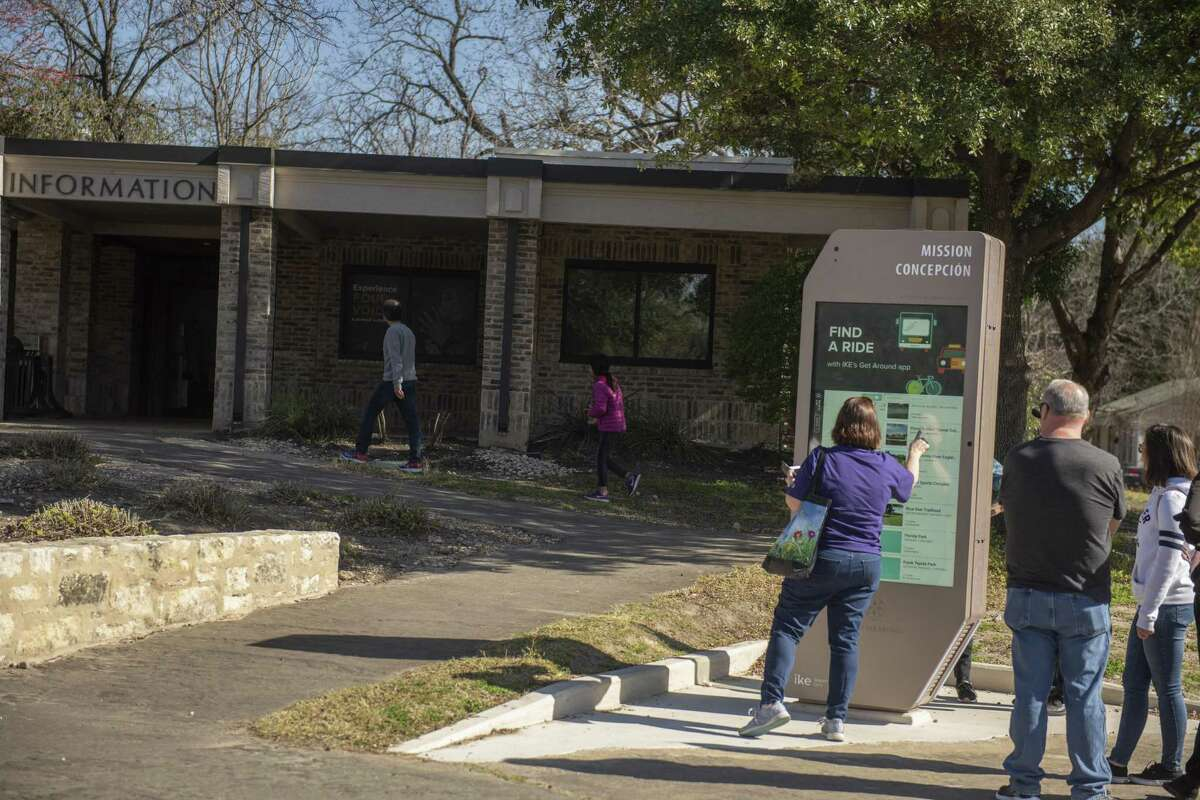 Due to a partial federal government shut down currently underway area families and tourists still flocked to Mission San Jose but had to use an electronic billboard to find area attractions and additional information on area Missions on Sunday, December 23, 2018.