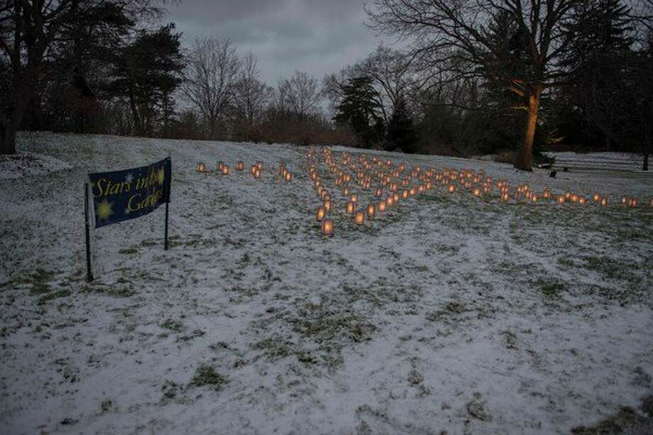 A hillside of softly glowing candlelit luminarias provided a peaceful opportunity to reflect and remember loved ones and friends being recognized through support raised for MidMichigan Home Care patients and their families including the Woodland Hospice House. Nearly $10,000 was donated to the MidMichigan Health Foundation for Stars in the Gardens. (Photo provided)