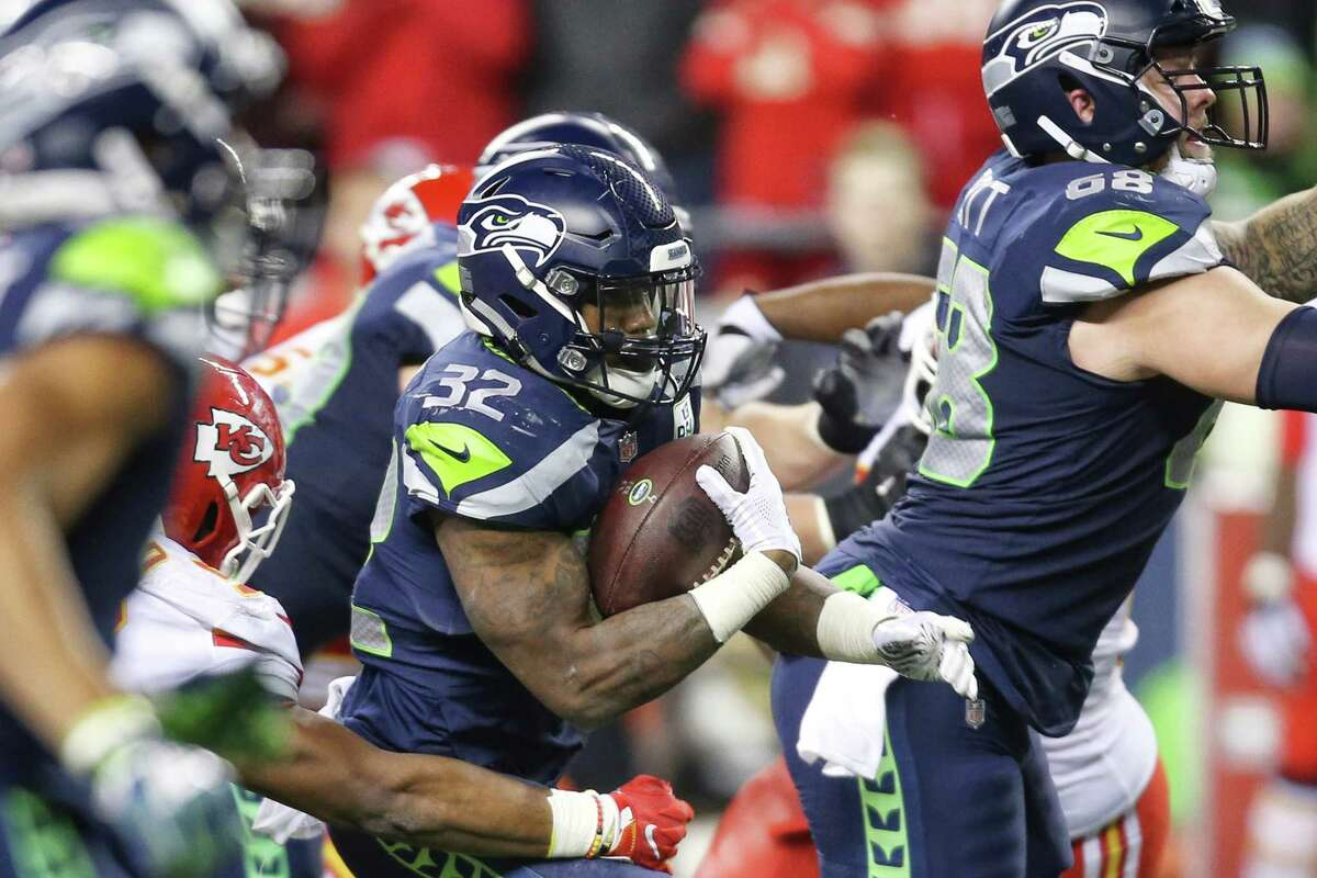 CHRIS CARSON SURPASSED 1,000 YARDS RUSHING Running back Chris Carson took a massive load in the backfield for Seattle Sunday, what marked a second consecutive game without Rashaad Penny. The second-year pro took advantage of the extra carries and rushed his way into a franchise milestone. Carson had 27 carries for 116 yards and two touchdowns against the Chiefs, and in the process became the first Seattle tailback to reach 1,000 yards rushing in a season since 2014 (Marshawn Lynch). He also had the first multi-touchdown game of his career.