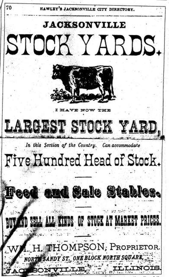 Where the Jacksonville Municipal Building stands today once was the site of the Jacksonville Stock Yards. This advertisement is from Hawley's Jacksonville City Directory for 1876-1877. Photo: File Image