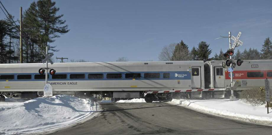 File photo of a Metro North train in West Redding. Photo: H John Voorhees III / H John Voorhees III / The News-Times