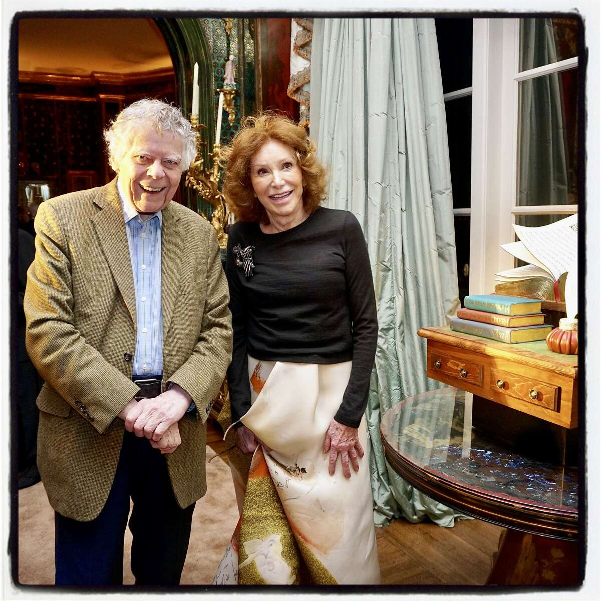 Ann Getty hosted an 85th birthday in honor of her husband, philanthropist-composer, Gordon Getty, and their granddaughter, Ivy Getty who shares her grandfather's Dec. 20 natal day. Dec. 16, 2018.