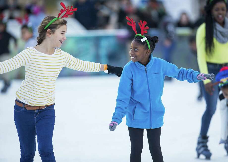 Children will get to skate with Spider-Man at Discovery Green on Saturday. Photo: Mark Mulligan, Houston Chronicle / Staff Photographer / © 2018 Mark Mulligan / Houston Chronicle