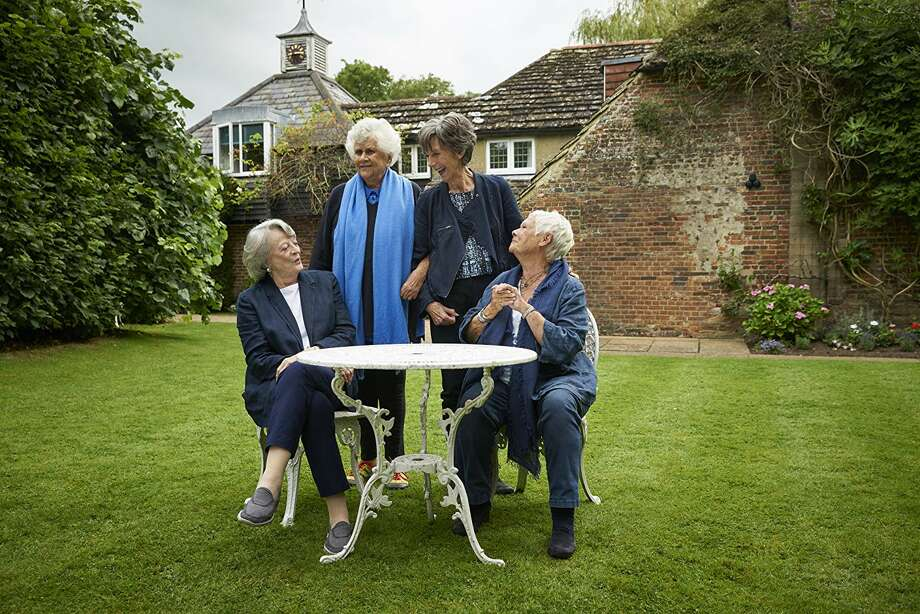 Maggie Smith, Joan Plowright, Eileen Atkins and Judi Dench share a table and conversation 'Tea with the Dames' Photo: IFC