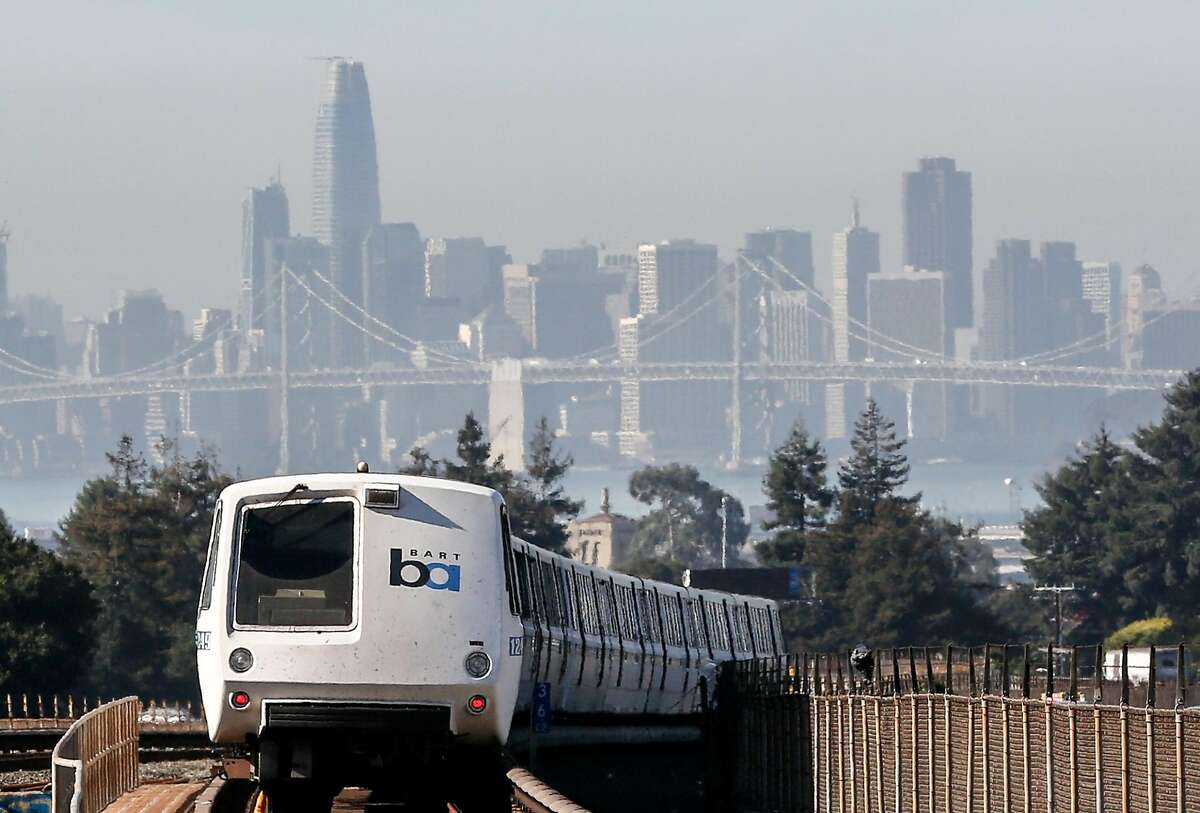 A train leaves MacArthur BART Station on Friday, November 2, 2018 in Oakland, Calif.