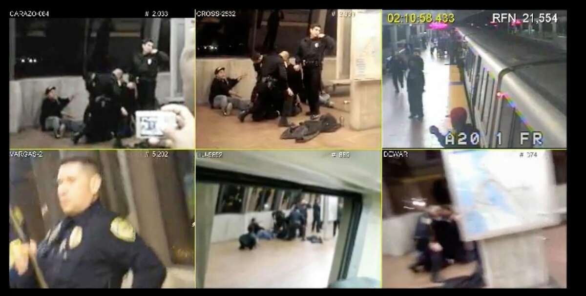 At the trial of Johannes Mehserle, the defense synched six videos of the shooting of Oscar Grant to allow the jury to see the incident unfold from multiple angles at the same time.