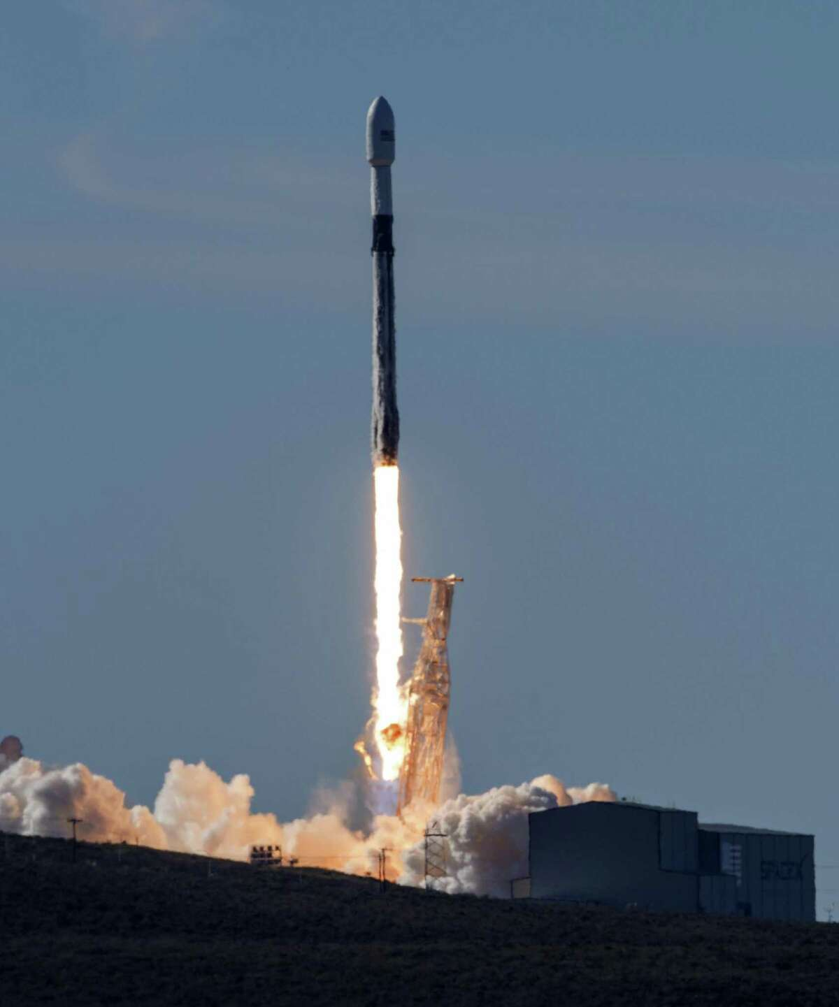 A SpaceX Falcon 9 rocket carrying the Spaceflight SSO-A: SmallSat Express launches from Vandenberg AFB in California this month. Enhancing and protecting the nation's military space capabilities will require a variety of measures.