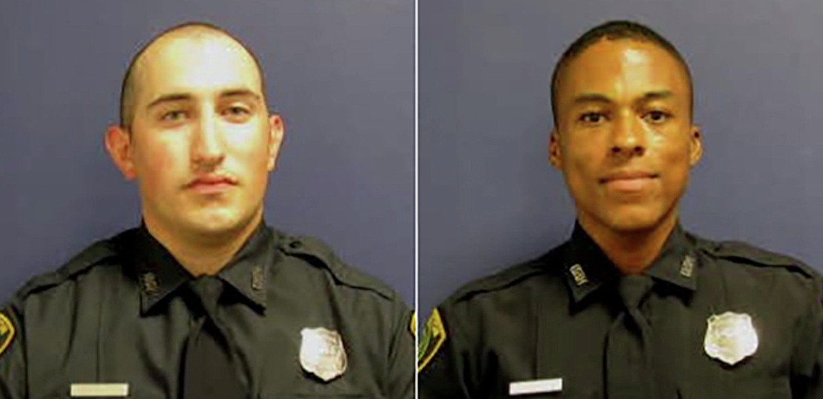 Officer Daily (left) and Officer Reid (right) both officers seriously injured following a crash with an intoxicated driver this morning. Both officers are assigned to Southeast Patrol and have been officers since October 2017.