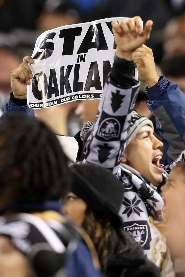 Oakland Raiders' fans cheer early in 1st quarter of game against Denver Broncos at Oakland Coliseum in Oakland, Calif. on Monday, December 24, 2018. Photo: Scott Strazzante / The Chronicle
