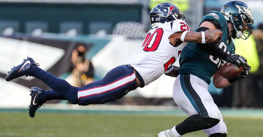 PHOTOS: Texans vs. Eagles Houston Texans strong safety Justin Reid (20) tackles Philadelphia Eagles tight end Dallas Goedert (88) during the third quarter of an NFL football game at Lincoln Financial Field on Sunday, Dec. 23, 2018, in Philadelphia. Browse through the photos to see action from the Texans' loss to the Eagles on Sunday. Photo: Brett Coomer/Staff Photographer