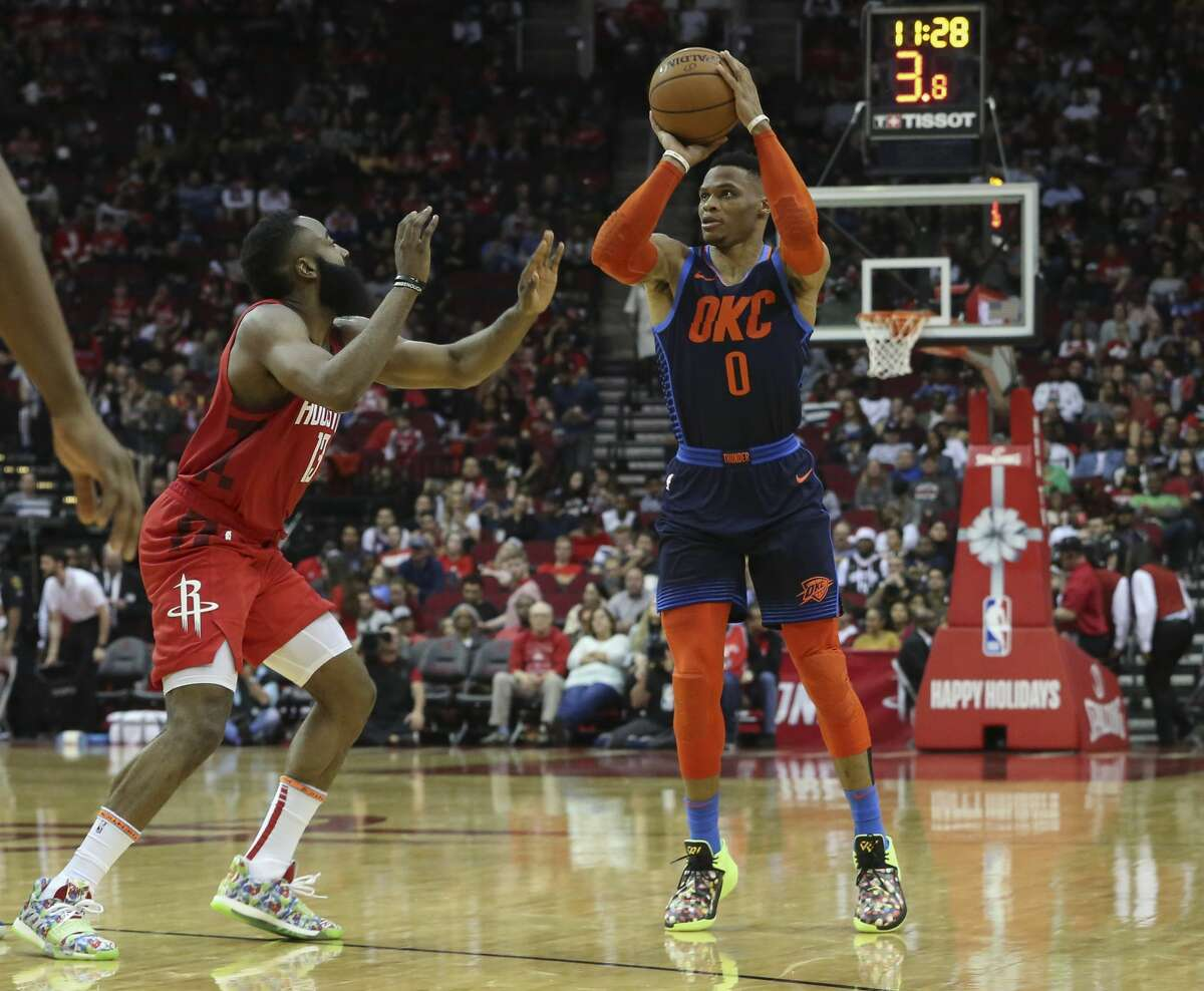 Russell Westbrook's future in Oklahoma City is the subject of much speculation after Paul George's trade to the Clippers. Could a reunion with James Harden be in the cards for the former MVP?