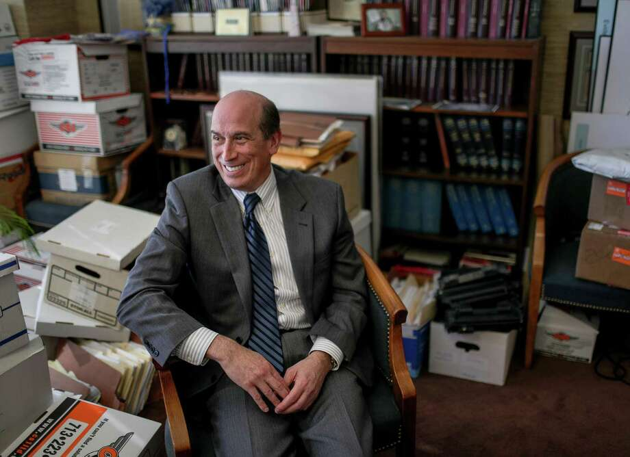 David Adler, a former CIA case officer, is a veteran Houston defense attorney who recently won a service award from the Southern District of Texas for overseeing a group of defense lawyers for indigent clients. Adler recollects some of his experiences at his office, Monday, Nov. 26, 2018, in Houston. Photo: Jon Shapley, Staff Photographer / Staff Photographer / © 2018 Houston Chronicle