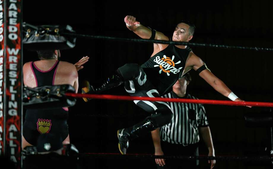 Laredo Wrestling Alliance will host its last event of 2018 Saturday at 7 p.m. Ricky Swayze will defend his LWA United Pure championship for the first time since winning it back in November. Photo: Danny Zaragoza /Laredo Morning Times File / Laredo Morning Times