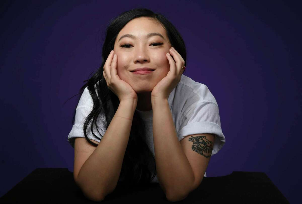Awkwafina, a University at Albany graduate (and former Times Union intern) won a Golden Globe award Sunday night for lead actress, becoming the first actor of Asian descent to win the award. (Associated Press)