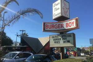 The exterior of the original Burger Boy restaurant at 2323 N. St. Mary's St.