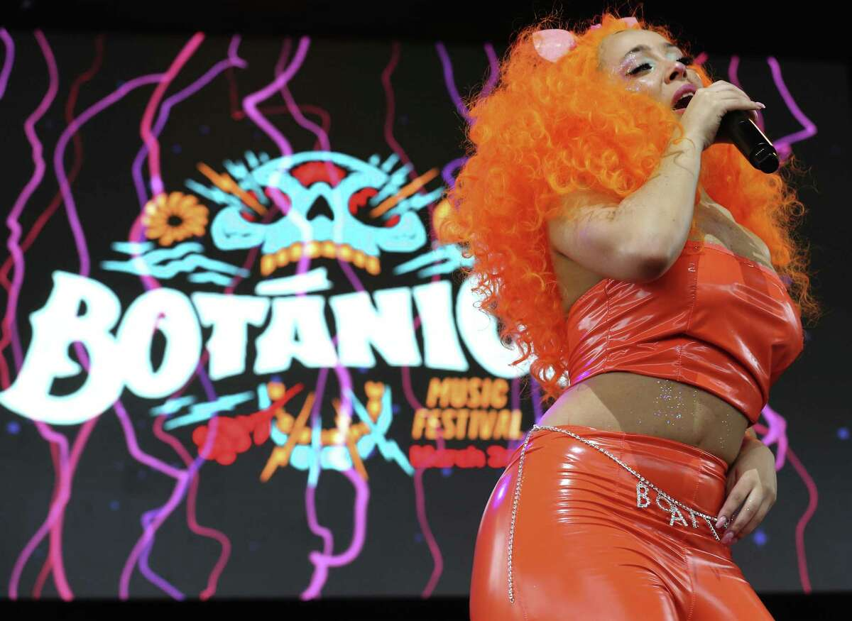 Los Angeles-based singer and rapper Doja Cat performs at the inaugural Botánica Music Festival.