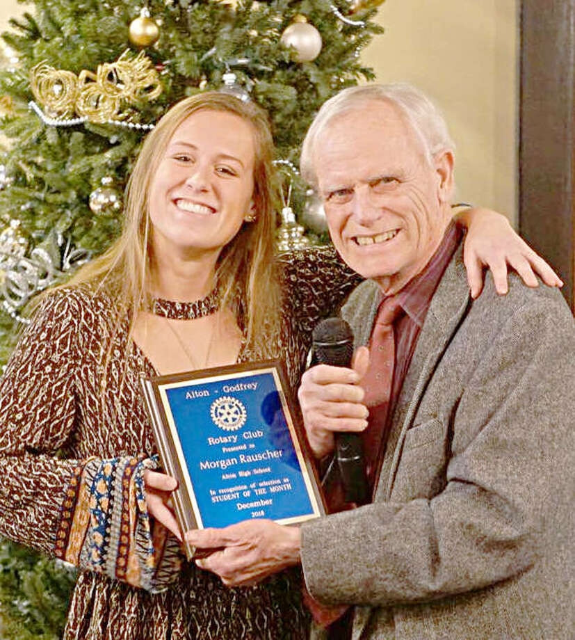Alton/Godfrey Rotary Club honors Rauscher, Root - Alton