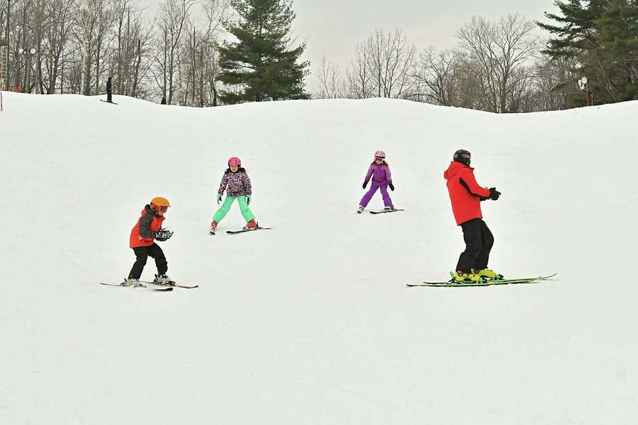 An instructor teaches young skiers at Willard Mountain on Tuesday, Dec. 26, 2018 in Greenwich, N.Y. (Lori Van Buren/Times Union) Photo: Lori Van Buren, Albany Times Union / 20045800A
