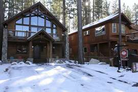 FILE - This Nov. 12, 2015, file photo shows vacation-rental homes in South Lake Tahoe, Calif. A California judge has temporarily blocked the enforcement of new restrictions on short-term vacation home rentals in South Lake Tahoe. (Jack Barnwell/The Tahoe Tribune via AP, file)
