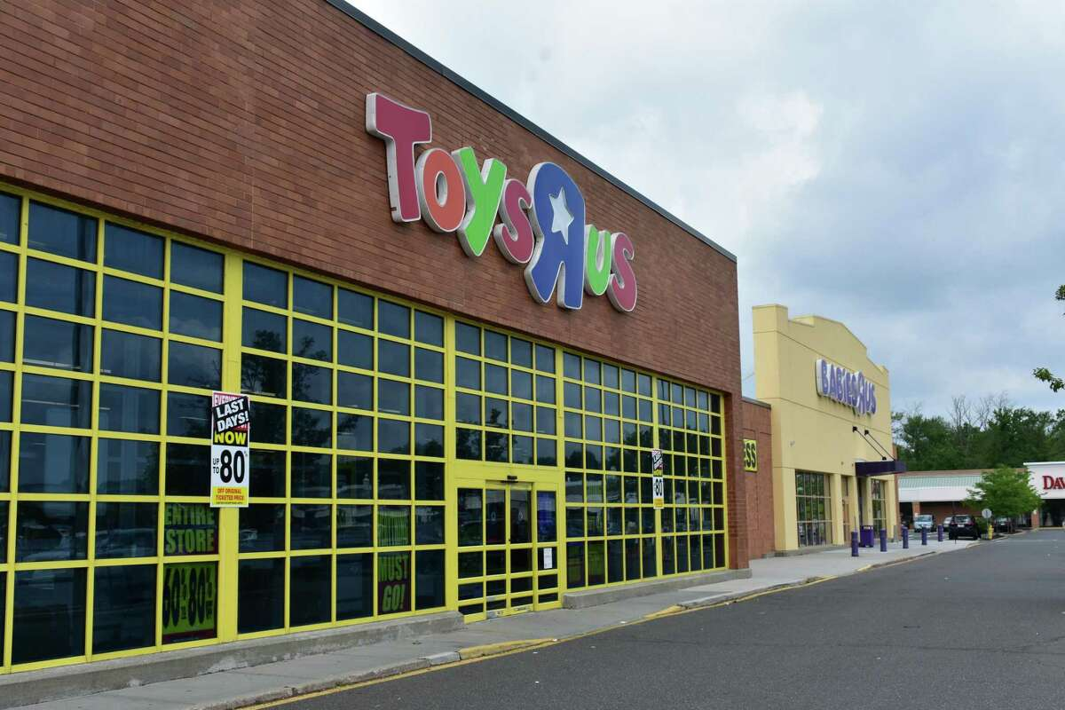 The Toys R Us and Babies R Us stores on Backus Avenue in Danbury, Connn., on Sunday, June 25, 2018, entering the final week of business for stores nationally as the iconic retailer completes a bankruptcy dissolution.