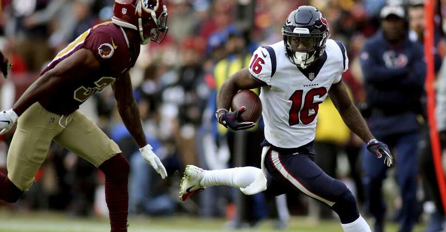 PHOTOS: Current NFL players from Houston Houston Texans wide receiver Keke Coutee (16) in action against the Washington Redskins in an NFL game, Sunday, November 18, 2018 in Landover, Md. (AP Photo/Daniel Kucin Jr.) >>>Browse through the photos for a look at current NFL players who come from Houston ... Photo: Daniel Kucin Jr./Associated Press