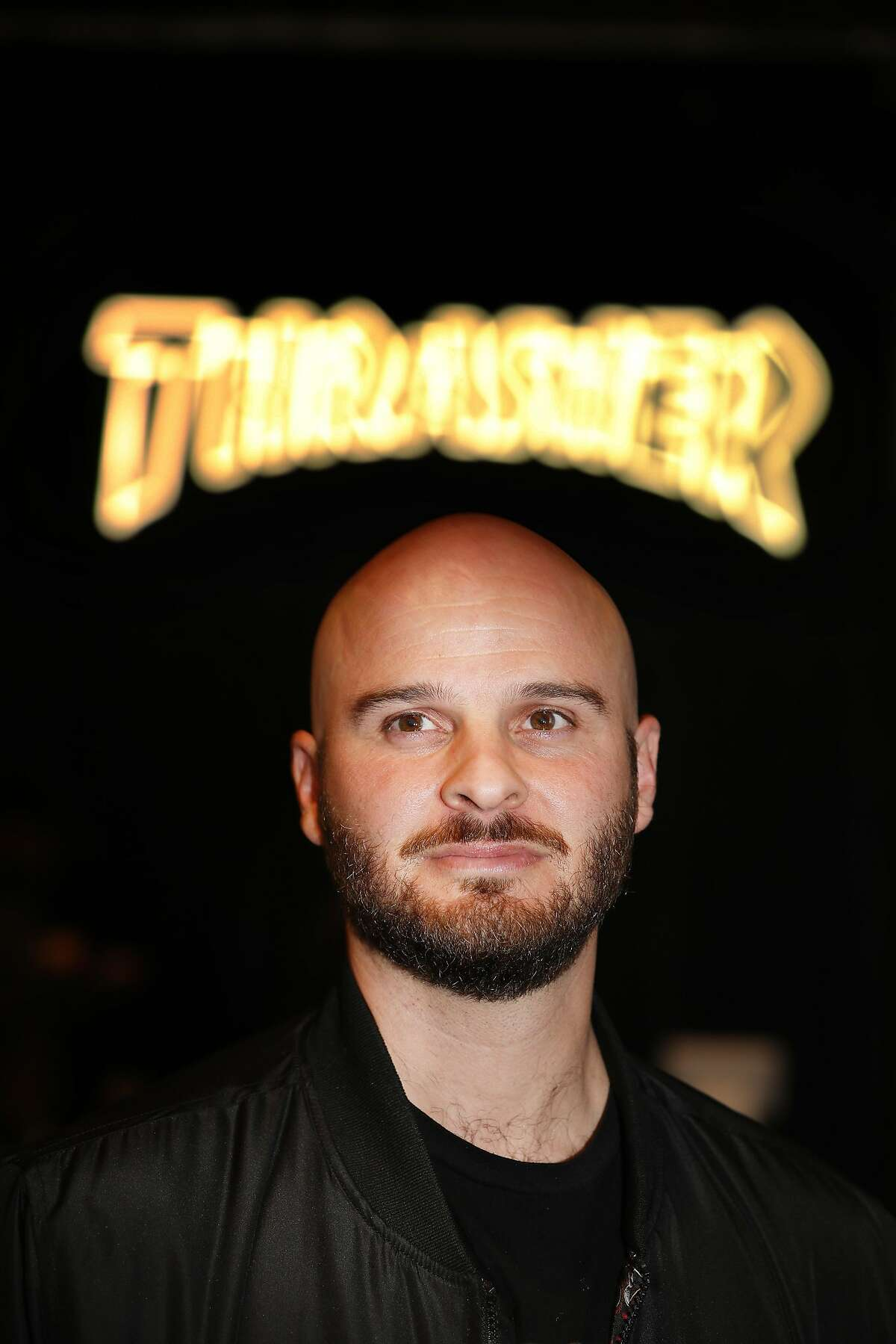 Tony Vitello, owner, stands for a portrait at the Thrasher flagship store at 66 6th Street on Friday, November 16, 2018 in San Francisco, Calif.