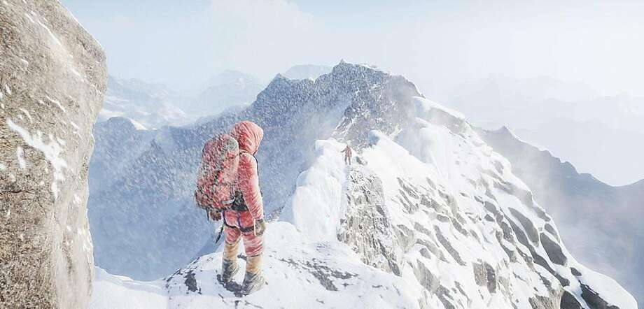 """A screenshot of Solfar Studio's """"Everest VR,"""" which allows users to experience what it feels like to climb Mount Everest in a virtual reality journey. Photo: Solfar Studio"""