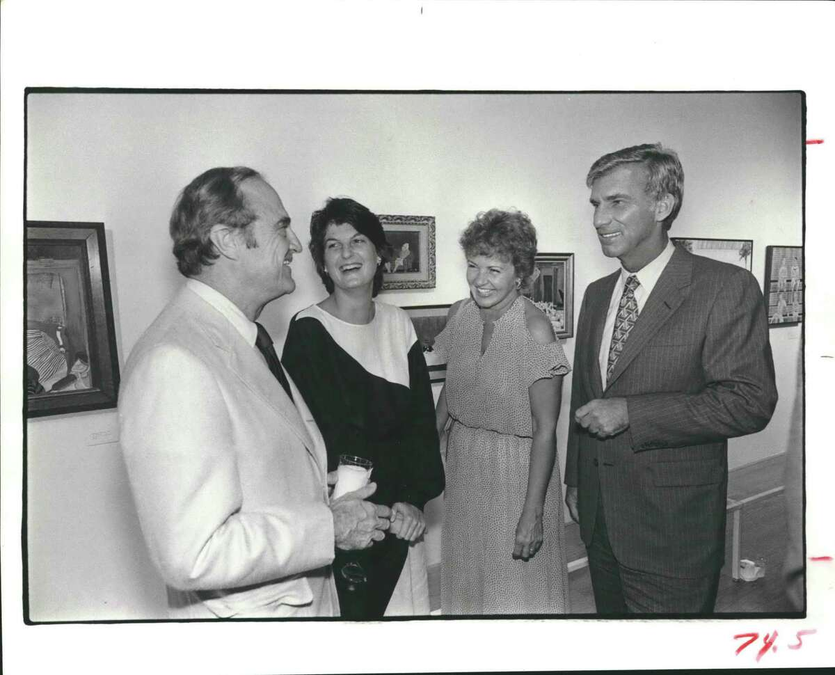 In this undated file photo, Anderson Todd, his daughter Emily Todd, and Mr. and Mrs. Sanford E. McCormick chat at the Contemporary Arts Museum in Houston.