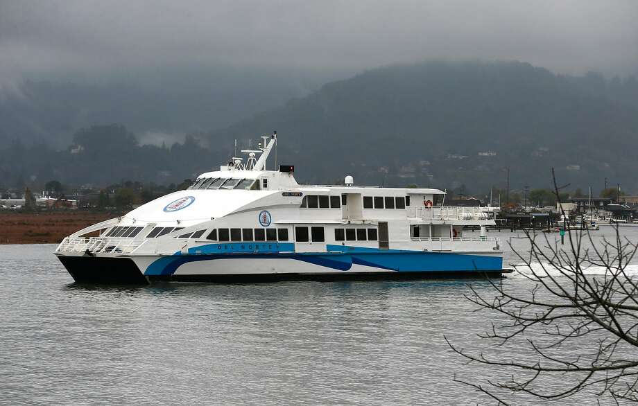 FILE - The Golden Gate Ferry boat Del Norte departs from the Larkspur Ferry Terminal in Larkspur, Calif. for a run to San Francisco on Wednesday, Dec. 5, 2018. Those heading to the San Francisco International Airport will now have a ferry option when looking to get to their flight. Photo: Paul Chinn, The Chronicle