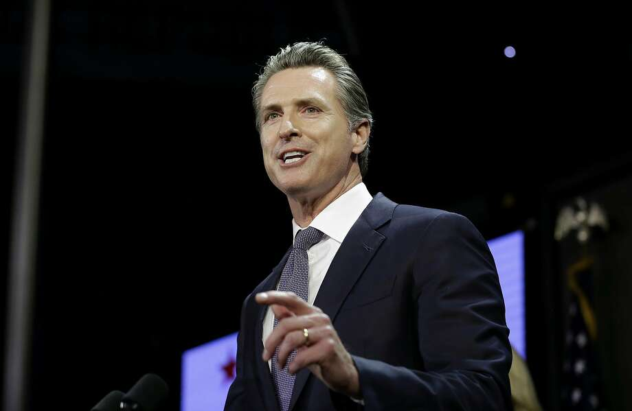 FILE- In this Nov. 6, 2018 file photo, Gavin Newsom, addresses an election night crowd to become the 40th governor of California in Los Angeles. Photo: Rich Pedroncelli / Associated Press 2018