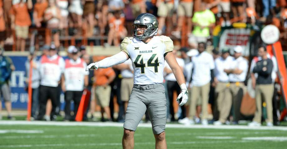 AUSTIN, TX - OCTOBER 29: Baylor reserve LB Clay Johnston lines up for a kickoff during start of NCAA game between Baylor and Texas on October 29, 2016 at Darrell K. Royal - Texas Memorial Stadium in Austin, TX. Texas defeated Baylor 35 - 34. (Photo by John Rivera/Icon Sportswire via Getty Images) Photo: Icon Sportswire/Icon Sportswire Via Getty Images