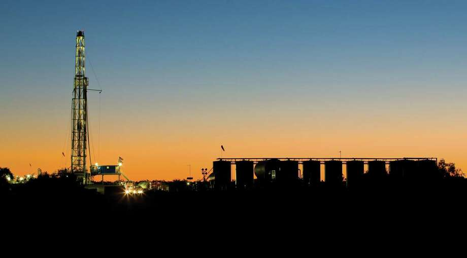 Sunset at a oil lease owned by Houston-based EOG Resources in the Eagle Ford Shale. Higher oil prices in 2018 resulted in higher drilling activity in Texas, State, data from the Railroad Commission of Texas shows. With 556 drilling permits filed in 2018, EOG is ranked as the top driller in Texas. Photo: NA / EOG Resources / ©2010 Ken Childress Photography