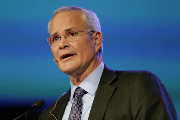 Darren Woods, ExxonMobil CEO, speaks during CERAWeek at the Hilton Americas,1600 Lamar St., Monday, March 6, 2017, in Houston.