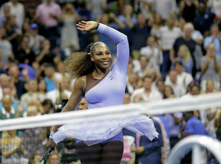 FILE - In this Sept. 6, 2018, file photo, Serena Williams celebrates after defeating Anastasija Sevastova, of Latvia, during the semifinals of the U.S. Open tennis tournament, in New York. Serena Williams was named The Associated Press Female Athlete of the Year on Wednesday, Dec. 26, 2018. (AP Photo/Seth Wenig, File) Photo: Seth Wenig / Copyright 2018 The Associated Press. All rights reserved