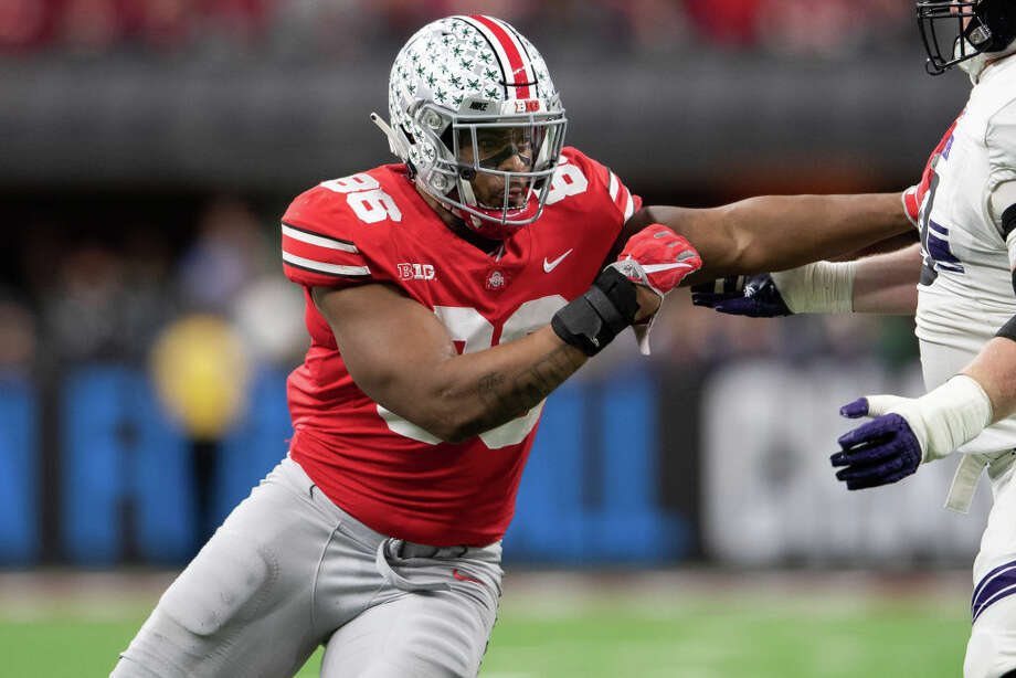 First round, No. 21 overall: DT Dre'Mont Jones, Ohio State 