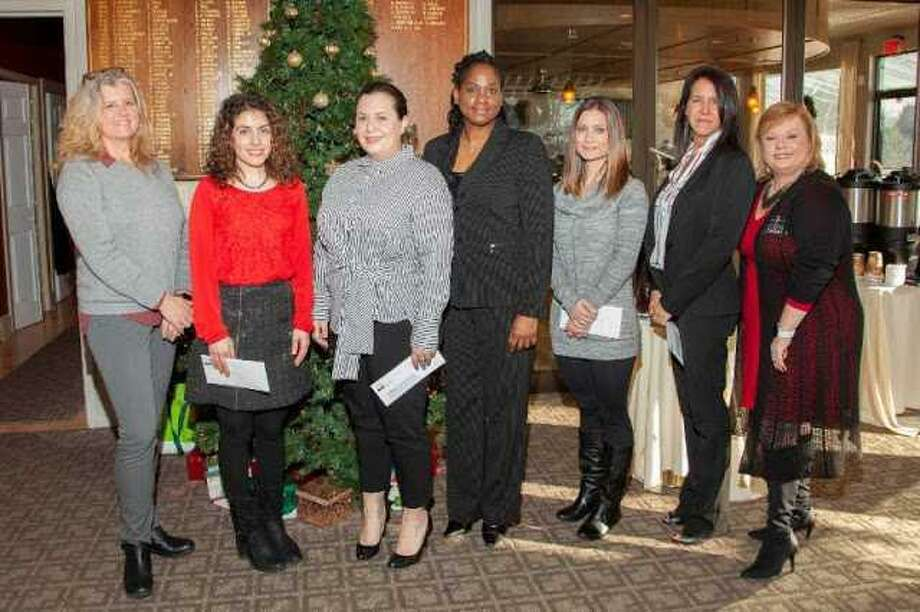 Angela Pettitti, Garys East Coast Service, WIN Council co-chairwoman; Lana Alkhatib, The Zaatar Shop; Rebecca Hopkins, No Label Design; Kashia Diaz-Cave, MCK Gourmet; Kristen Moreno, The Better Beagle Co; Patty Taylor, Taylor Made Fitness and Sherry Konworski, Bonus Business Services, WIN co-chairwoman. Photo: Contributed / Fred Ortol /