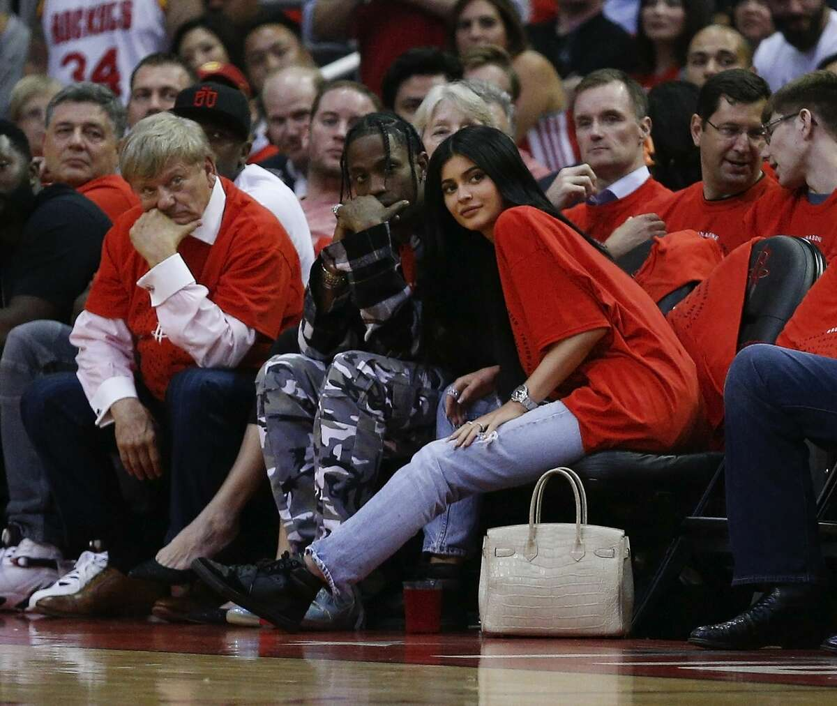 Houston rapper Travis Scott, pictured here with Kylie Jenner, marks Travis Scott's entry into the growing cannabis industry.