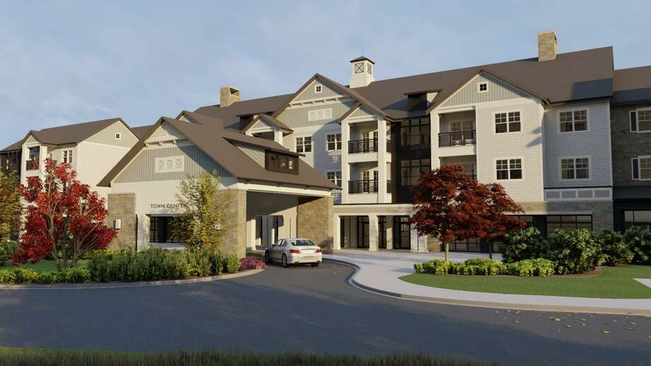 Covenant Village of Cromwell, at 52 Missionary Road, is expanding. Shown here are architect's renderings of the exterior. Photo: Contributed Photo