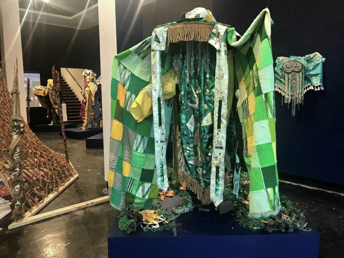 "Olaniyi Akindiya (Akirish) has filled the largest gallery of Lawndale Art Center with ""Ara Oru Kinkin (Masquaerades Mythology),"" an installation based on fantastical costumes for Nigeria's Egungun Masquerade festival."