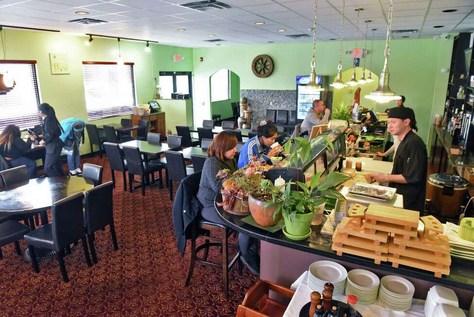 Dining room at Pebbles Asian Fusion restaurant Friday Dec. 14, 2018 in Colonie, NY. (John Carl D'Annibale/Times Union)