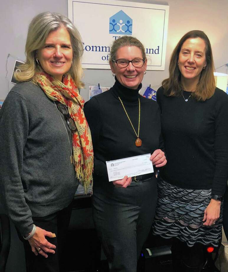 The Community Fund recently donated $3,500 to Future 5, a Stamford-based not-for-profit that helps connect low-income high school students to their full potential. From left, Janet King, executive director of Community Fund of Darien; Rachel Dewey, executive director of Future 5; and Lisa Haas, grant director at Community Fund of Darien. Photo: Contributed Photos