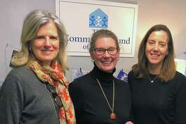 The Community Fund recently donated $3,500 to Future 5, a Stamford-based not-for-profit that helps connect low-income high school students to their full potential. From left, Janet King, executive director of Community Fund of Darien; Rachel Dewey, executive director of Future 5; and Lisa Haas, grant director at Community Fund of Darien.