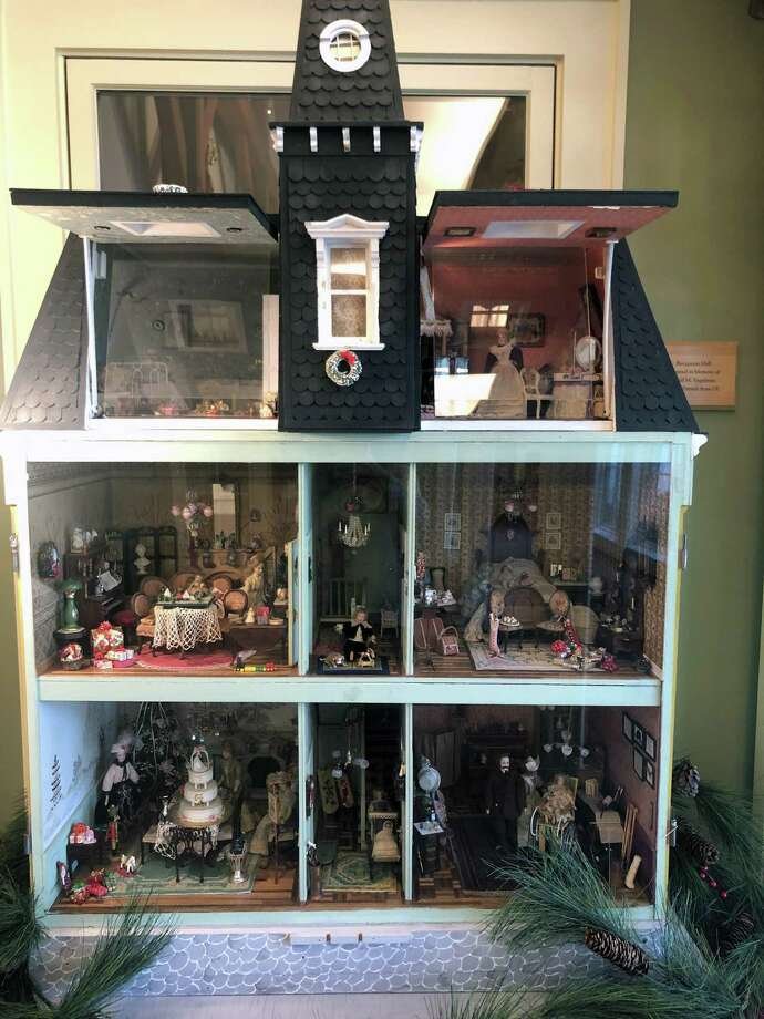 The Victorian-themed dollhouse created by Evelyn and Frank Gerratana in 1979. Photo: Contributed Photo /