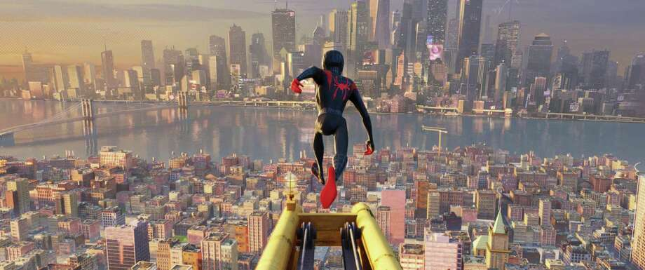 "This image  shows a scene from ""Spider-Man: Into the Spider-Verse."" Photo: Sony Pictures Animation / Associated Press / © 2018 CTMG, Inc. All Rights Reserved. **ALL IMAGES ARE PROPERTY OF SONY PICTURES ENTERTAINMENT INC. FOR PROMOTIONAL USE ONLY. S"