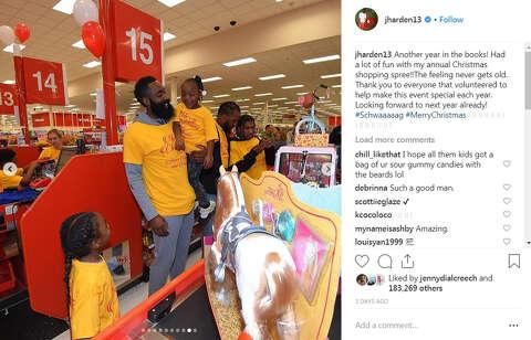808e7cfa1f68  p The Rockets  James Harden treated 70 kids to a Christmas shopping spree