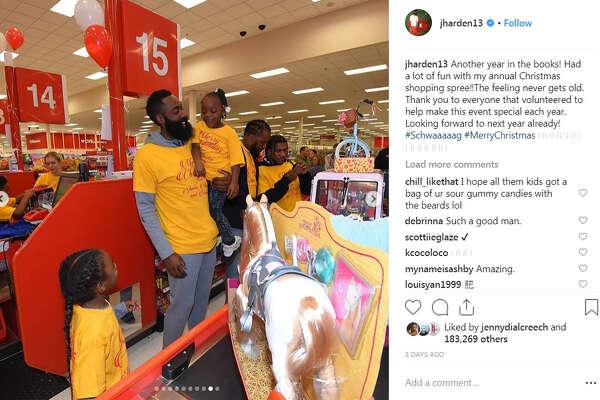 Until Christmas 70 Days Till Christmas.Rockets James Harden Treats Kids To Christmas Shopping