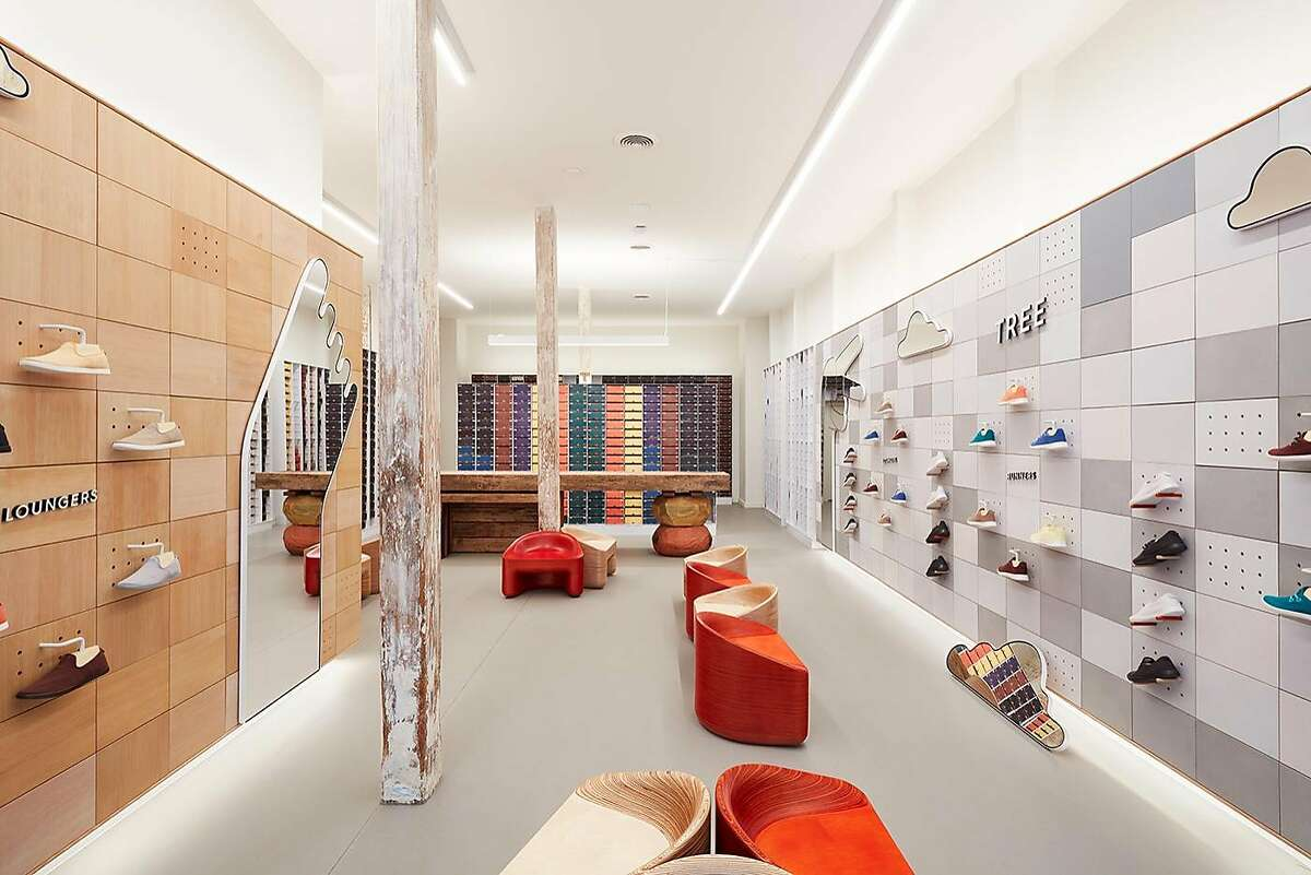 Eco shoe startup Allbirds has had a presence in Jackson Square since 2016, and now has a flagship where you can try on sustainable footwear composed of wool or eucalyptus fiber.