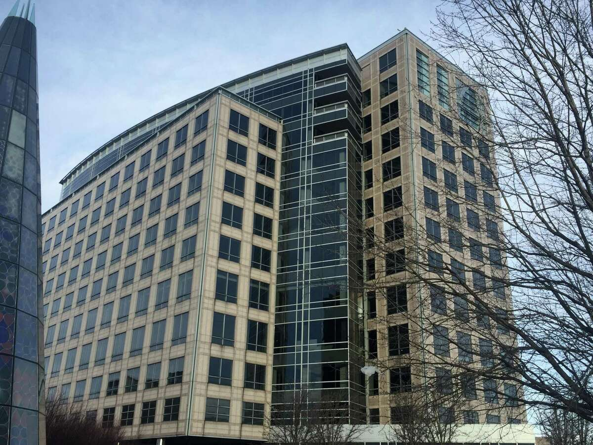 The office complex at 677 Washington Blvd., in downtown Stamford, Conn., is the city's largest office vacancy.